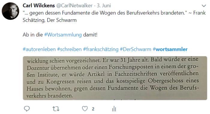 Wortsammlung, Twitter, Carl Wilckens, Carl Netwalker